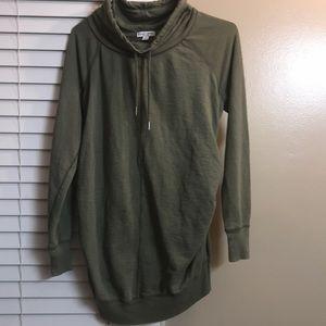 Army green maternity sweat shirt